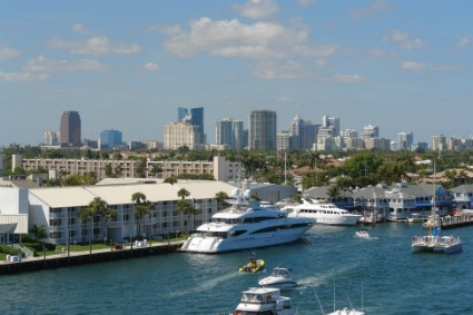 Fort Lauderdale skyline and harbor