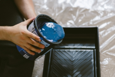 diy blue blue paint